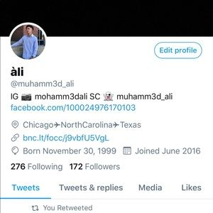 Other - Twitter Follow Me 👆🏼